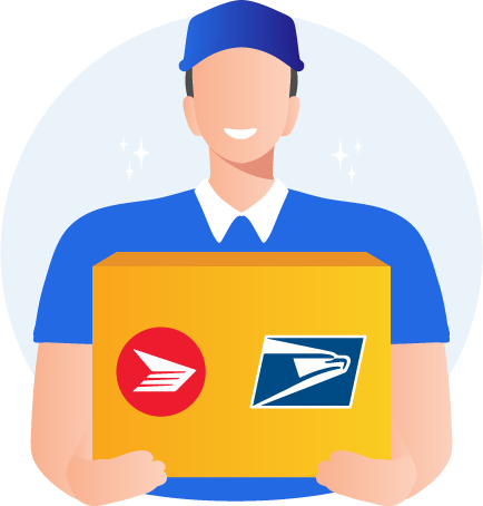 USA USPS and Canada Post postage