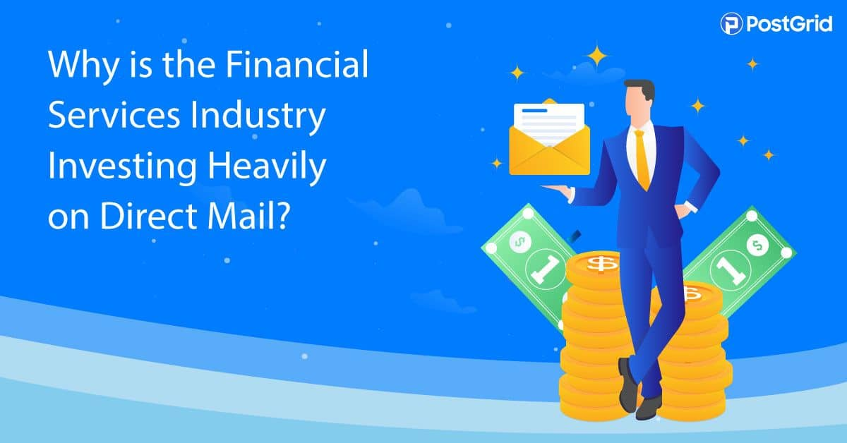 finance industry direct mail marketing