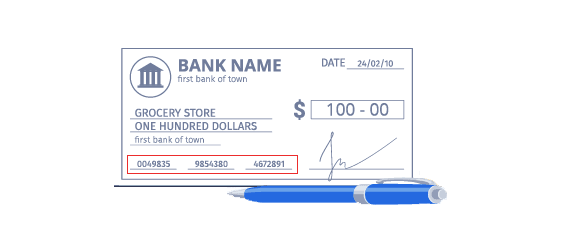 micr line on Canadian Cheque